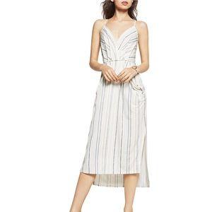 BCBGeneration | Striped Draped Pocket Midi Dress
